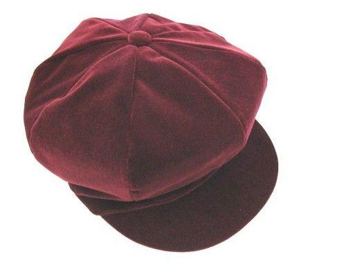 Womens Hats Baker Boy Caps Velvet Baker Boy Cap Ki