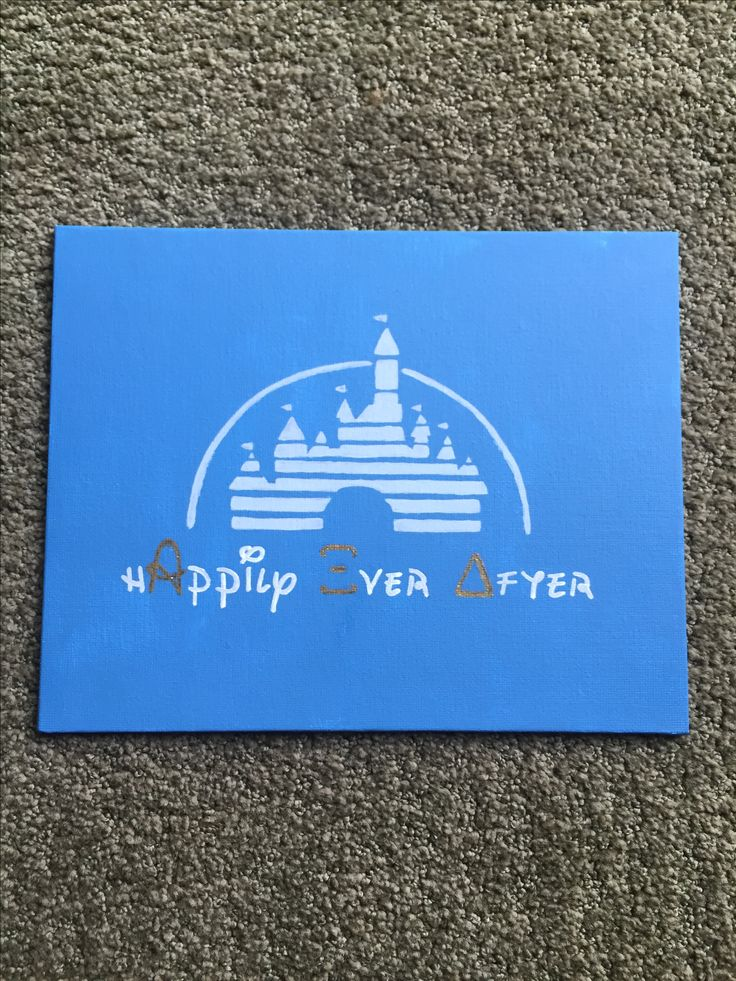 Purdue Alpha Xi Delta Disney big little sorority canvas