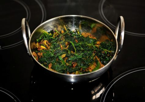 Saag Bhaji - dry style - page 1 - Bhajis (Onion, Pakora, Mushroom, Vegetable, etc - Curry Recipes Online - 9 page views remaining today