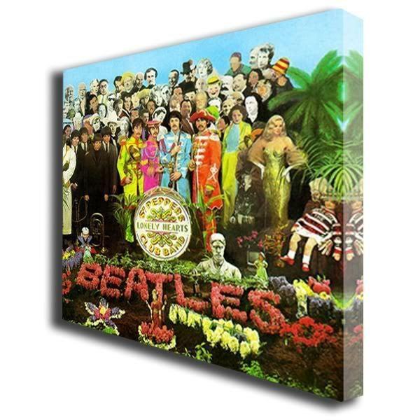 The Beatles Sgt Pepper Album box canvas art print 122 #PopArt