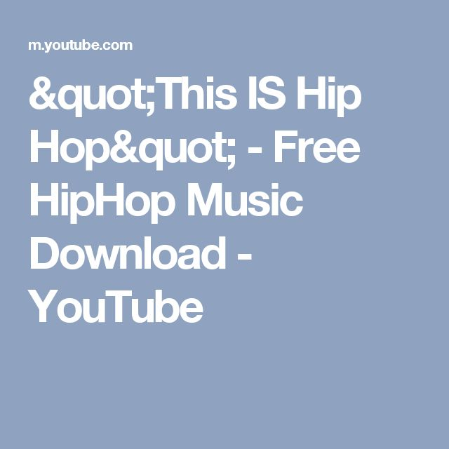"""""""This IS Hip Hop"""" - Free HipHop Music Download - YouTube"""