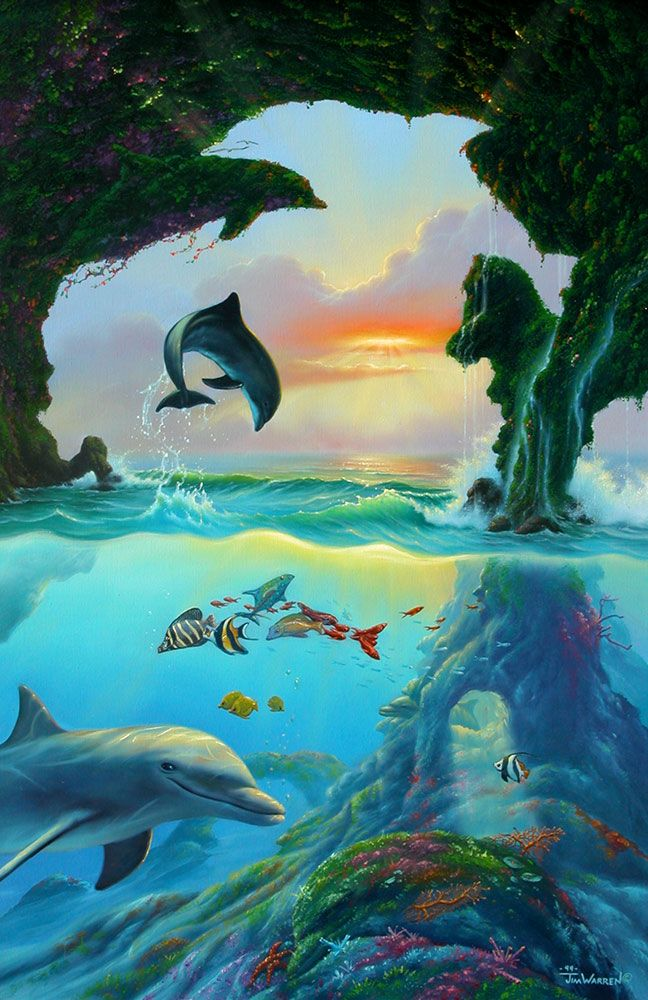 Seven Dolphins by Jim Warren