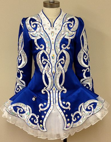 Blue / White / Silver Irish Dancing Dress