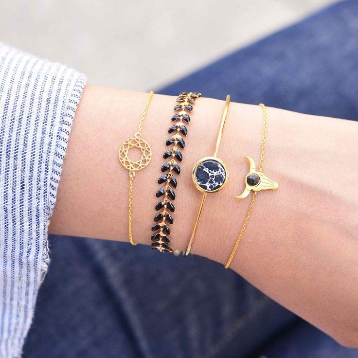 Majolie - Rosace Gold Bracelet - - 1