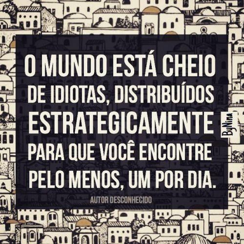 Pra rir, porque se irritar não adianta!  #frases #autordesconhecido #humor #pessoas #idiotas #prarir #instabynina