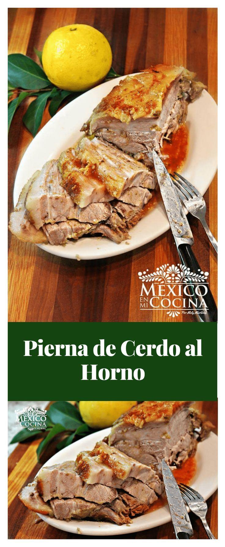 Pierna De Cerdo Al Horno Estilo Yucateco Recetas De Comida Mexicana Receta Pierna De Cerdo Al Horno Pierna De Cerdo Cerdo Al Horno