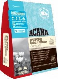 ACANA Puppy Small Breed  For small breed puppies weighing 9kg (20lbs) at maturity