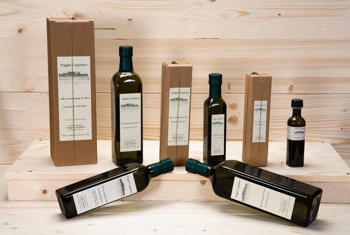 Poggio Cappiano, a small Tuscan farm produces an excellent extra virgin olive oil