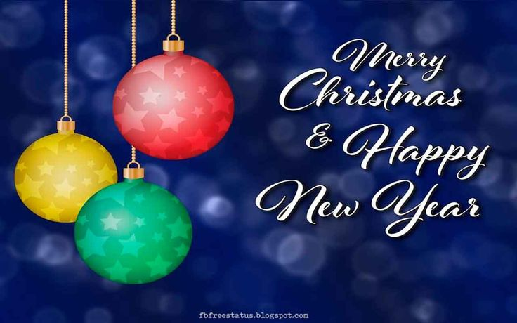 Merry Christmas Images and Happy New Year Wishes Images with Quotes.