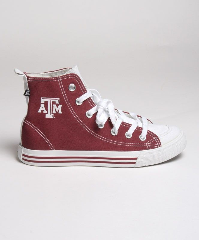 Ladies High-Top Sneakers. #AggieGifts #AggieStyle