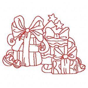 Redwork Navidad - Gratis instantánea Máquina del bordado Diseños