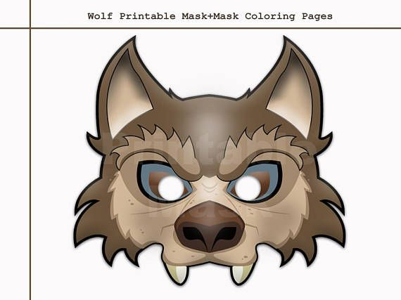 Printable Wolf Mask Template For Kids