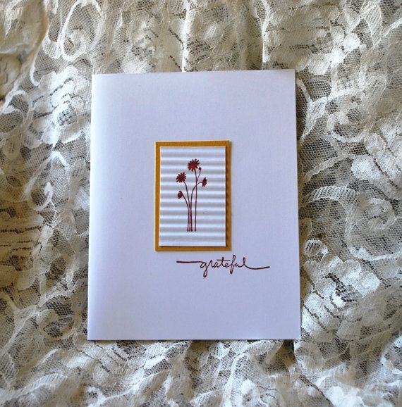 Handmade Greeting Card: Thank you card by WallridgeFarm on Etsy
