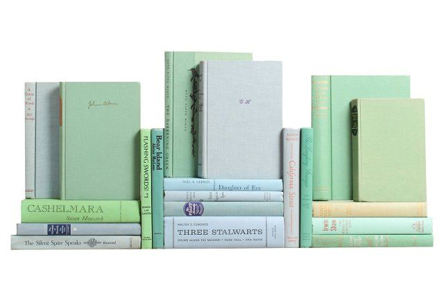 Pastel Midcentury Book Collection, S/20