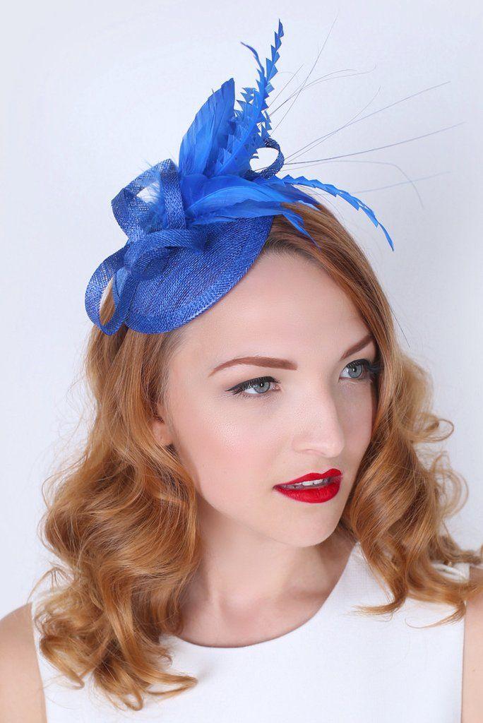 """Arianna"" Fascinator - Royal Blue"