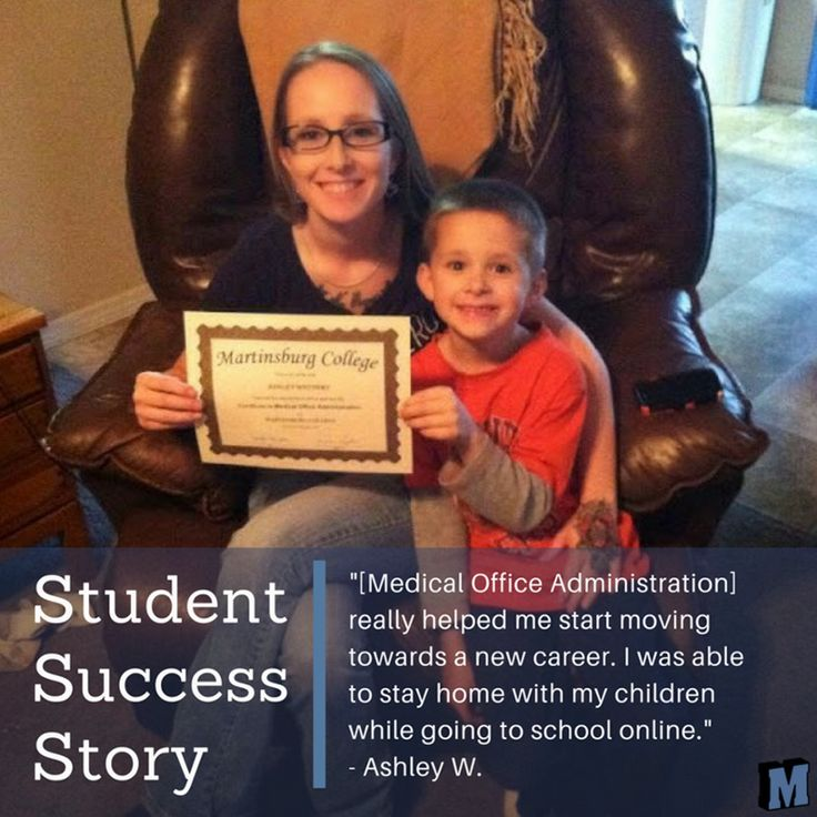 """Student Success Story: """"Enrolling in the Medical Office Administration program was a great way for me to better myself and family's future. It really helped me start moving  towards a new career. I was able to stay home with my children while going to school online. The material was easy to understand and the program easy to navigate...."""" read more: http://qoo.ly/i9jg7 from Ashley 
