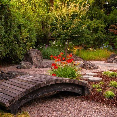 Garden footbridge design woodworking projects plans for Japanese garden bridge plans