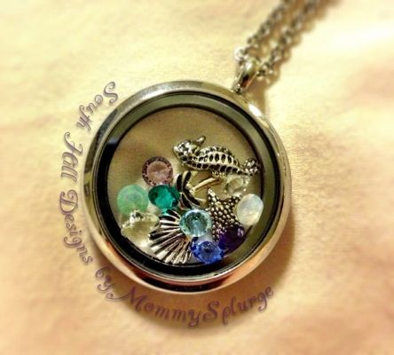 June South Hill Designs Locket - Beach themed. How will your locket tell your June story?