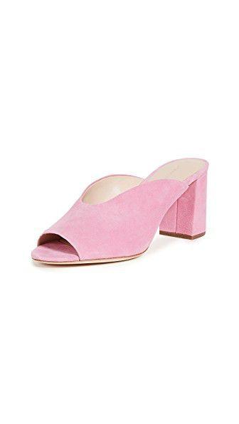 Corinne Kid Suede Slide Sandal in Peony – $375 – #…