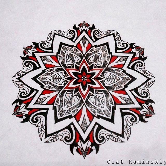 эскиз мандала dotwork, linework, ornamental