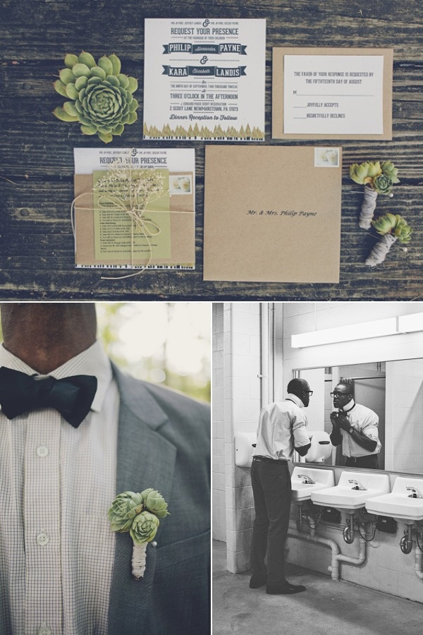 rustic wedding invitations | Via Style Me Pretty