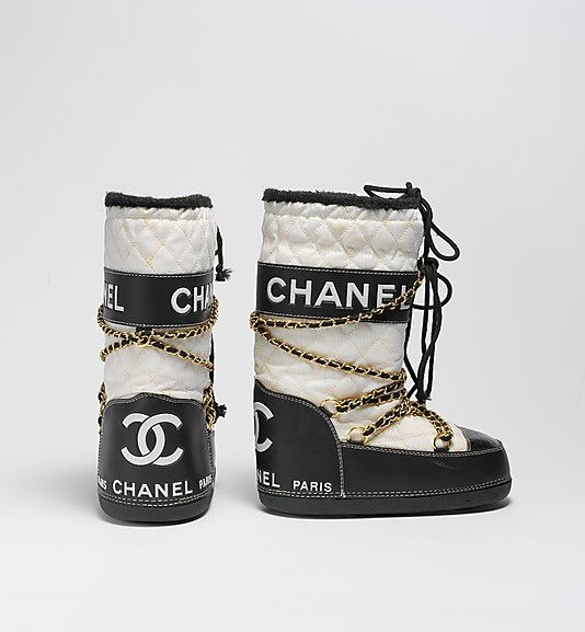 Chanel moon boot. Ready to hit the Mt.'s!!!