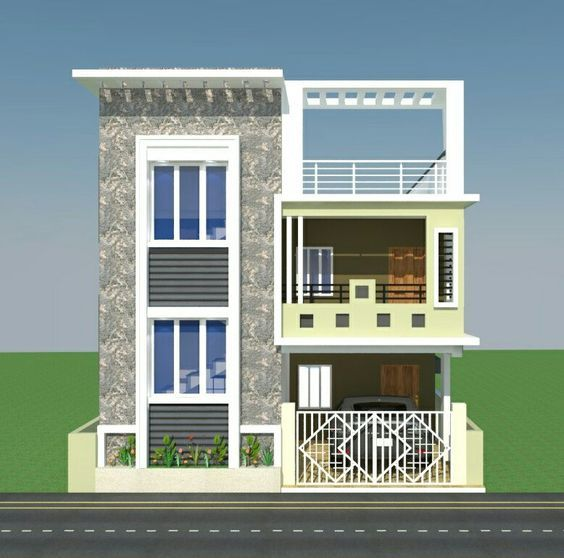 Front Elevation House Colours : G floor elevation house plans