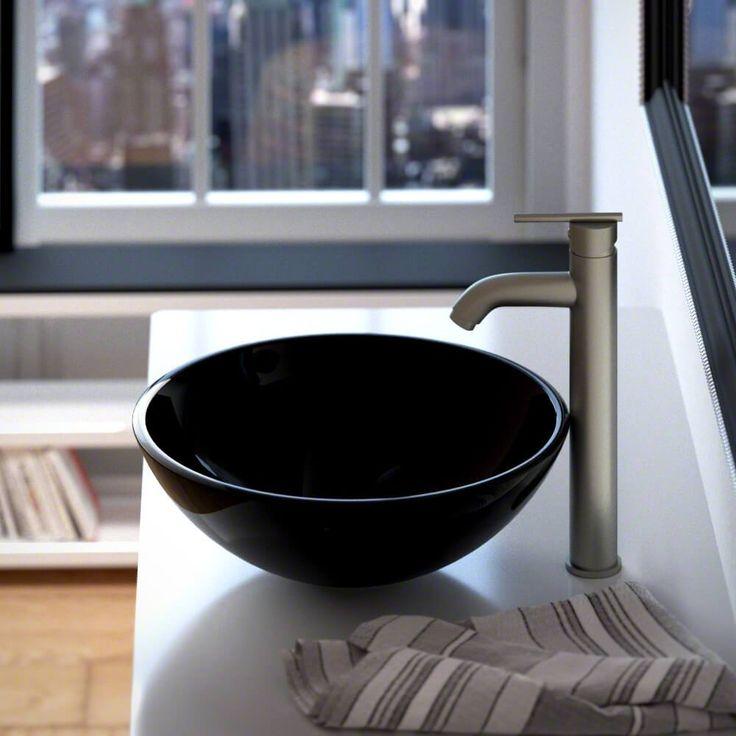601 Black Glass Vessel Sink