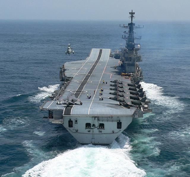 Indian Navy Aircraft Carrier INS Viraat.