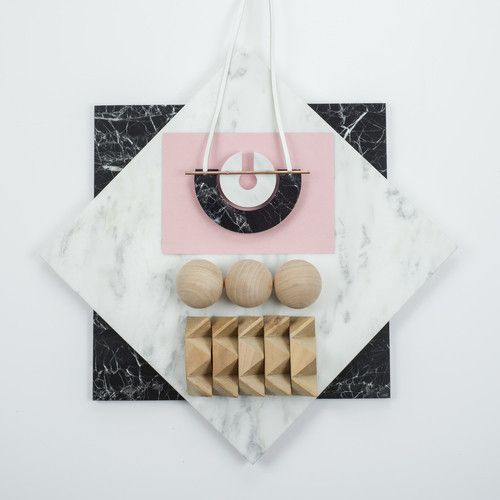 Rill Rill Necklace No 8 Black and White Marble | nana & bird - Only Curating What We Love