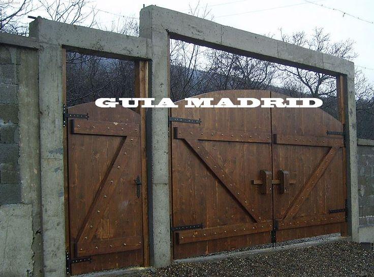 Portones rusticos buscar con google decoracion - Garage de madera ...