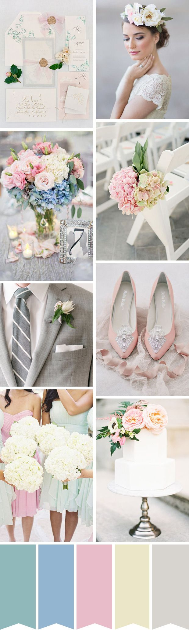 Elegant and Chic: Pastel Summer Wedding Inspiration | www.onefabday.com
