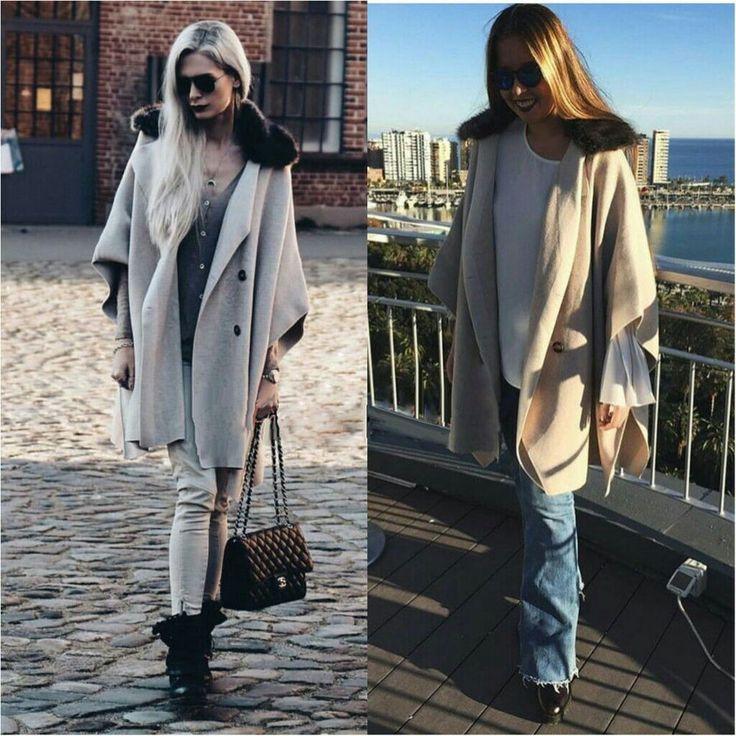 NWT ZARA Crossover Cape with Faux Fur Collar  Poncho Coat Size L Ref.6873/143 #ZARA #Poncho #Casual