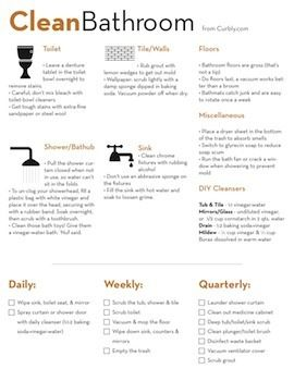 Bathroom cleaning list: Clean Bathroom, Clean Checklist, Clean Check Lists, Clean Cheat, Cheat Sheets, Bathroom Cleaning, Bathroom Clean Tips, House, Cleanbathroom