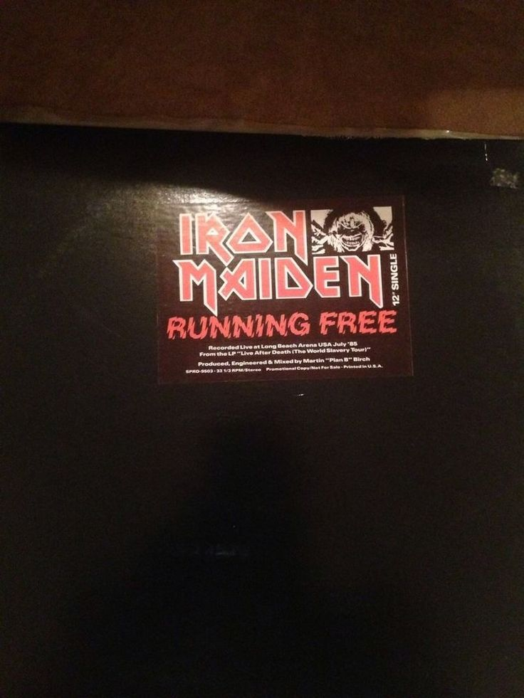 "Iron Maiden Running Free 12"" Promo"