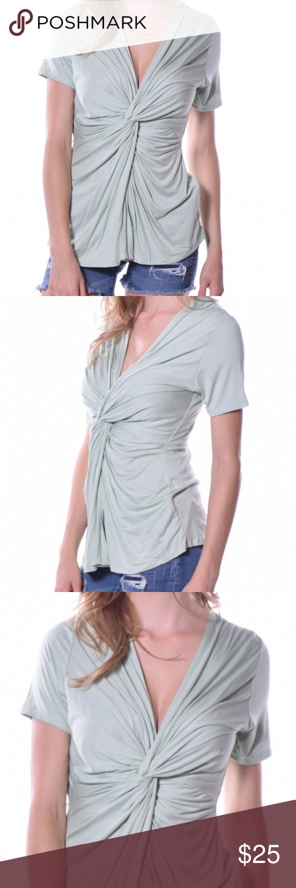 Now Available! Pastel Clothing Twist Top Sage green soft, beautiful top, with lots of drape. Preorders will ship out by the end of the month. And welcome to the launch of my boutique! Pastels Clothing Tops Blouses