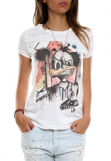 mob duck white  #vagrancylifestyle #handmade #tshirt #woman