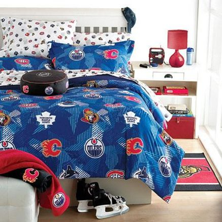 Nhl 174 Comforter Set Sears Sears Canada ⚫️hockey