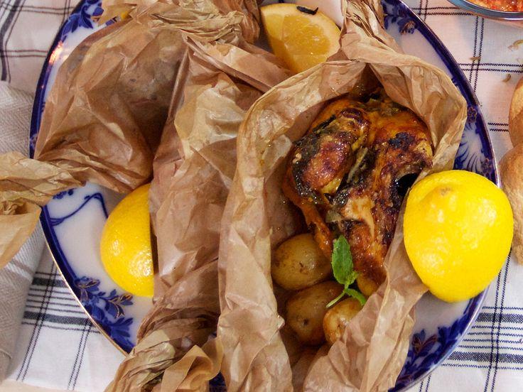 Citruskyckling med libbsticka och mynta | Recept.nu