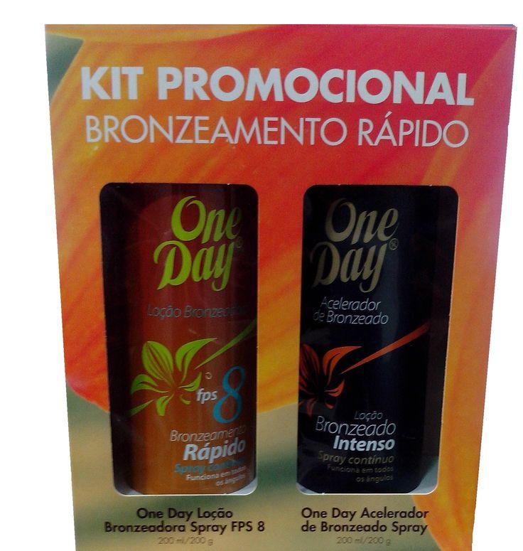 Anasol KIT PROMOCIONAL BRONZEAMENTO RÁPIDO: One Day Loção Bronzeadora Spray FPS 8 200ml + Acelerador de Bronzeado Spray 200ml