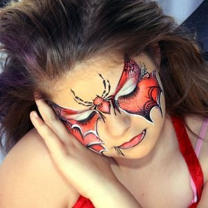 Painted with Kryolan Aquacolor by Lynne Jamieson of FaceMagic Face and Body Art.