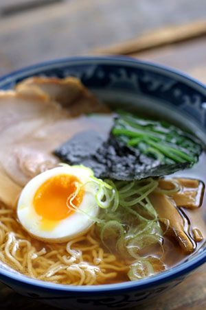 Japanese Food Shoyu Ramen|醤油ラーメン.  Best to eat on a cold night with your family.  So good.