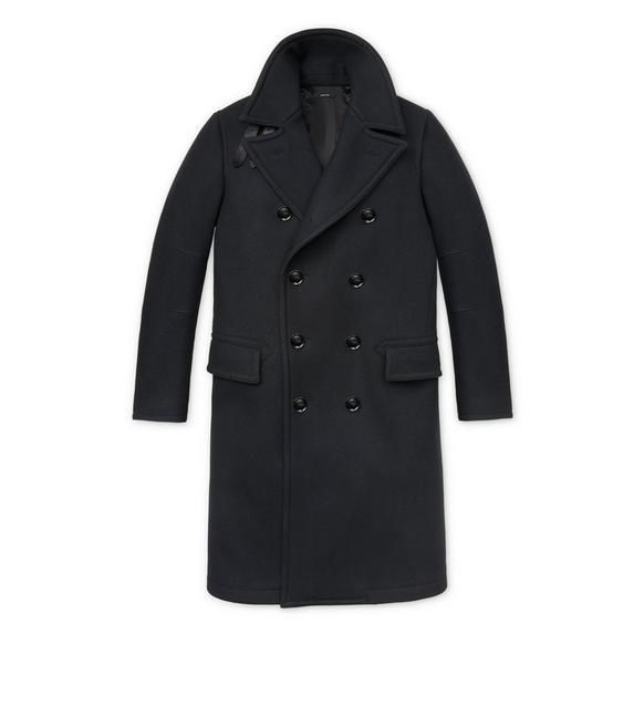 Japanese Melton Long Peacoat, Cotton Peacoat By Tom Ford