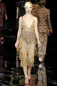 fringe dress - louis vuiiton voorjaar 2011