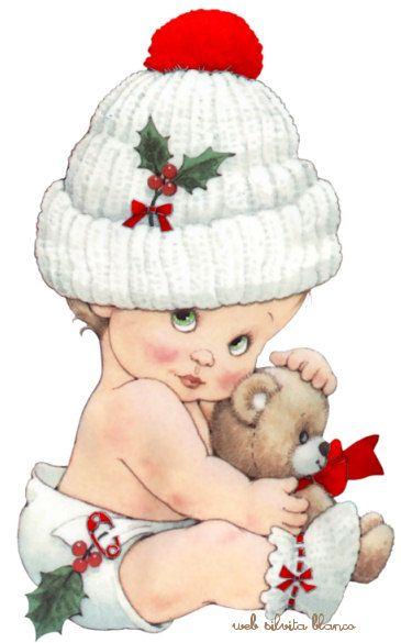Bebé vestido para NavidadBy ; Maria Elena Lopez Oh Blanca Navidad