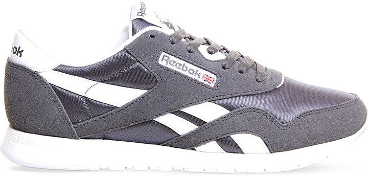 REEBOK Classic suede and nylon trainers