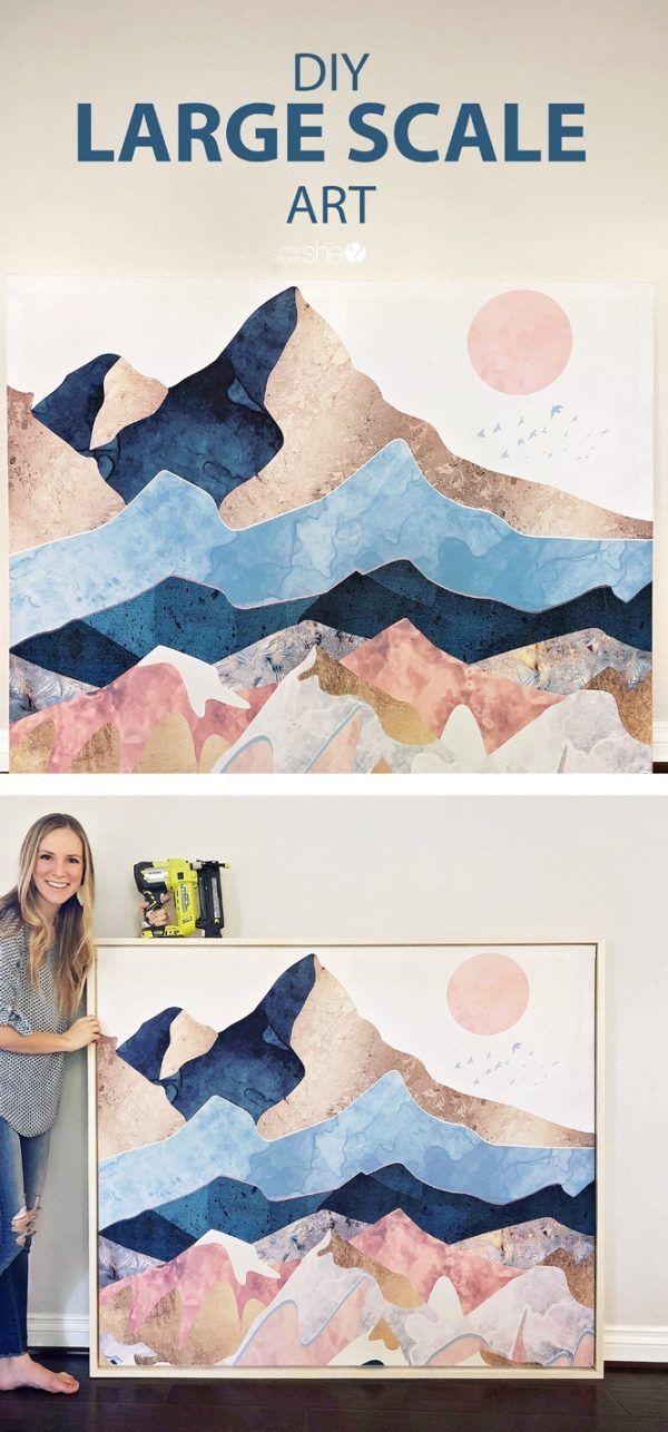 Diy Large Scale Art Diy Large Wall Art Large Canvas Art Diy