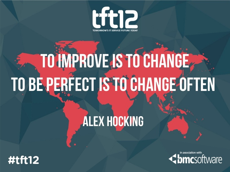 Presentation: To improve is to change, to be perfect is to change often