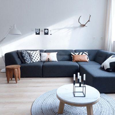 Interior Inspo: leren Leen Bakker kussen - everythingelze.com
