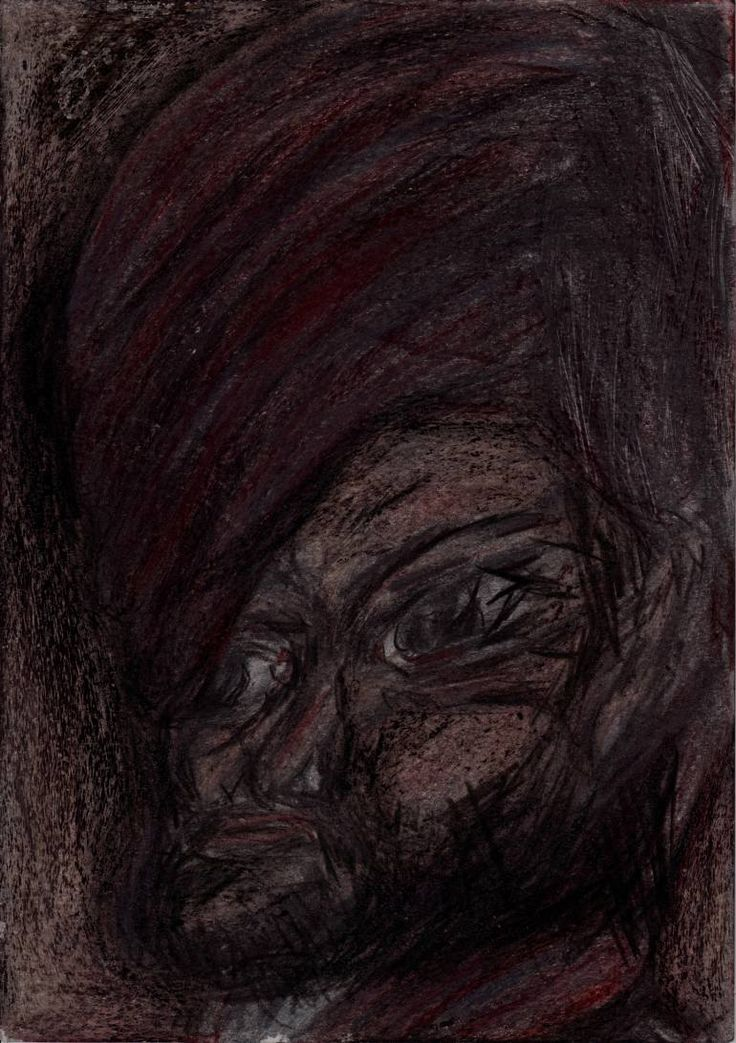 "Drawing: Pastel and Pencil on Paper.   Size: 11.7 H x  8.3 W x  0  in   Pawn ""The Scribe"". The ""other"" opposition. His criticism focuses on other side advertising.   All the characters are fictional, representing types of people. There are not portraits of real man or woman."